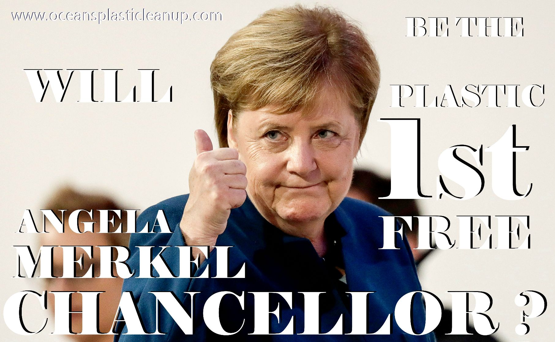 #Could Angela Merkel be the first plastic free Chancellor of Germany ?