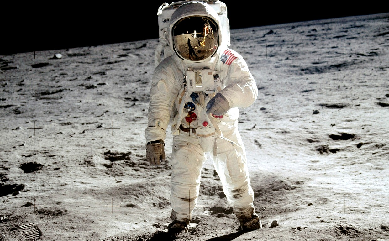 Neil Armstrong, first man on the Moon, giant leap for mankind